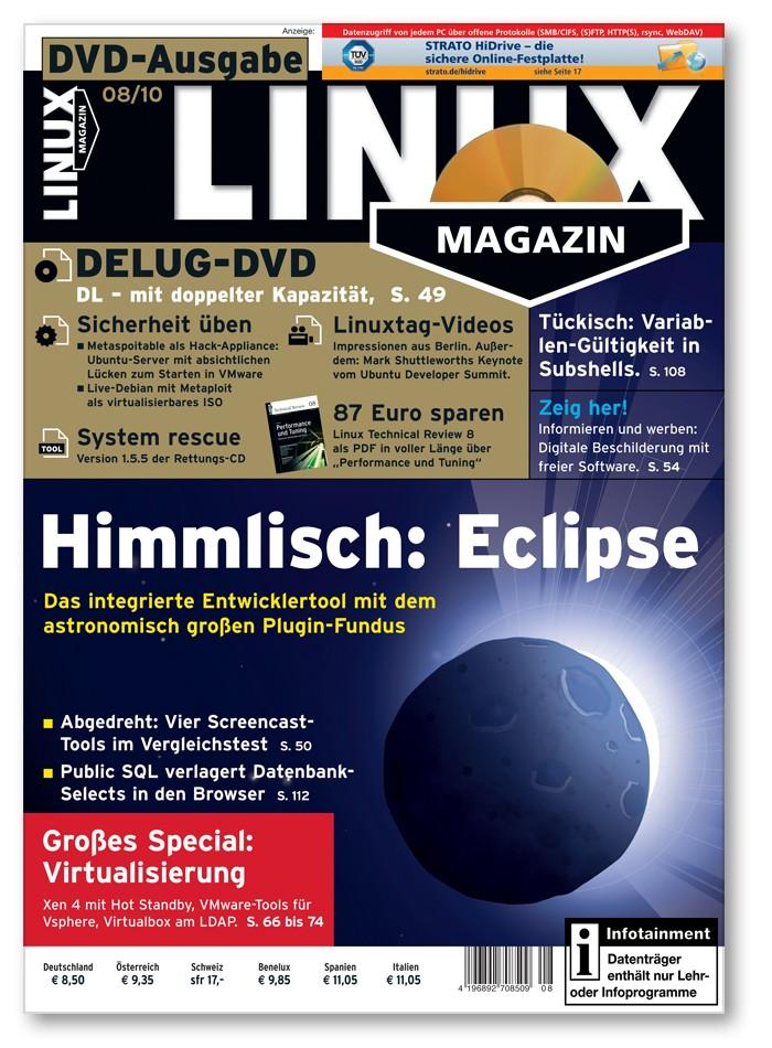 Linux Magazin Ausgabe August 2010