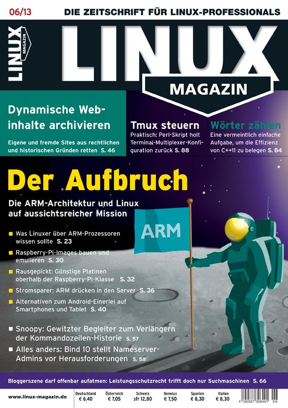 Linux Magazin Ausgabe Juni 2013