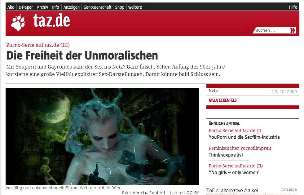 Porno Serie auf taz.de - Die Freiheit der Unmoralischen