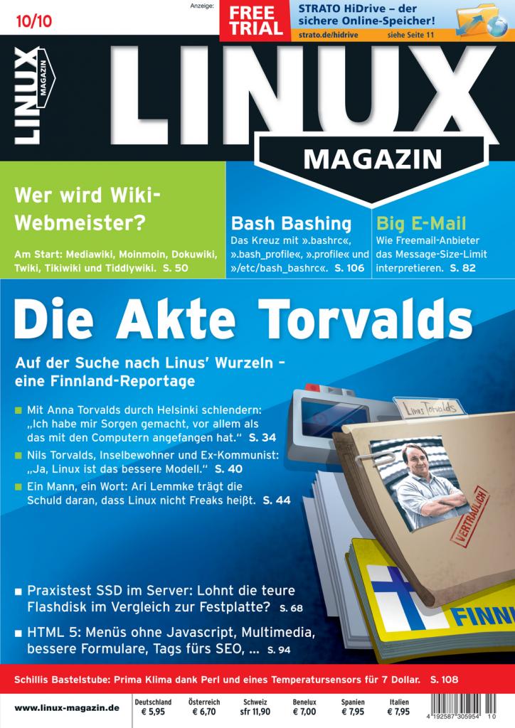 Linux Magazin Ausgabe Oktober 2010