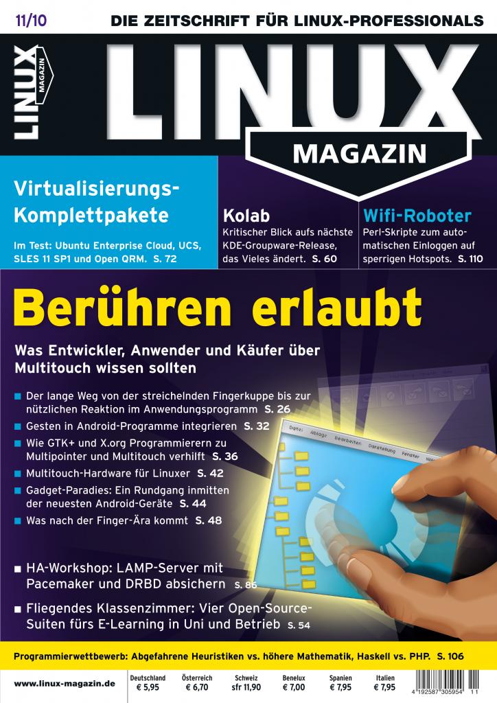 Linux Magazin Ausgabe November 2010