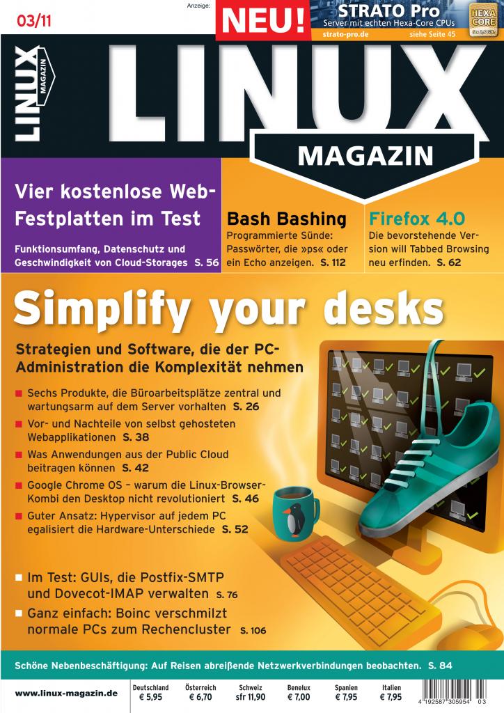 Linux Magazin Ausgabe März 2011