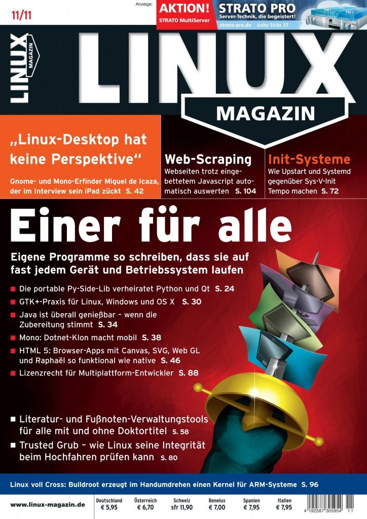 Linux Magazin Ausgabe November 2011