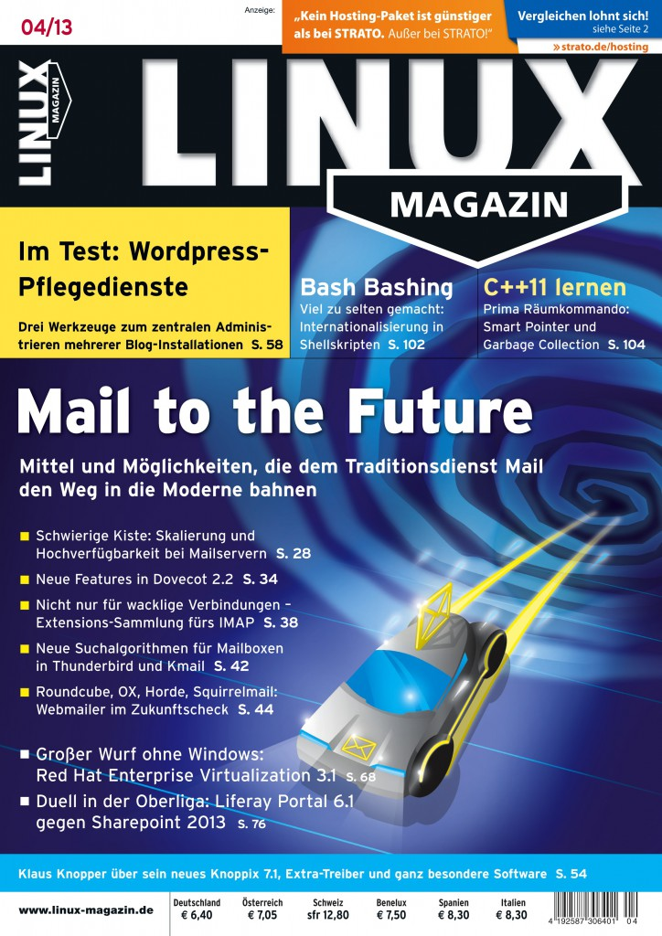 Linux Magazin Ausgabe April 2013