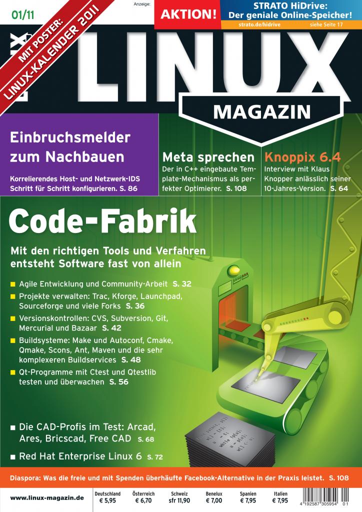 Linux Magazin Ausgabe Januar 2011