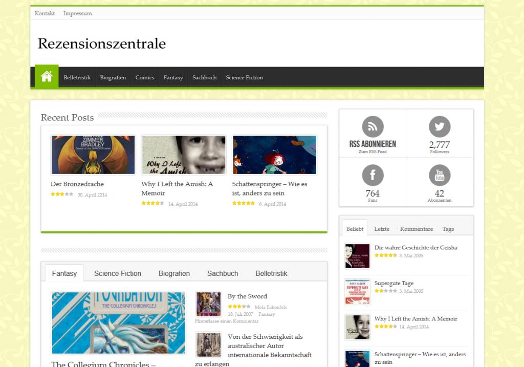 Screenshot Rezensionszentrale Frühjahr 2014#