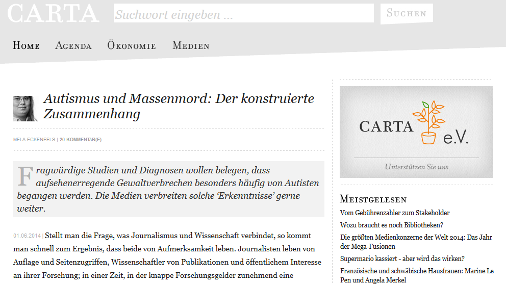 Autismus und Massenmord: Der konstruierte Zusammenhang - Screenshot
