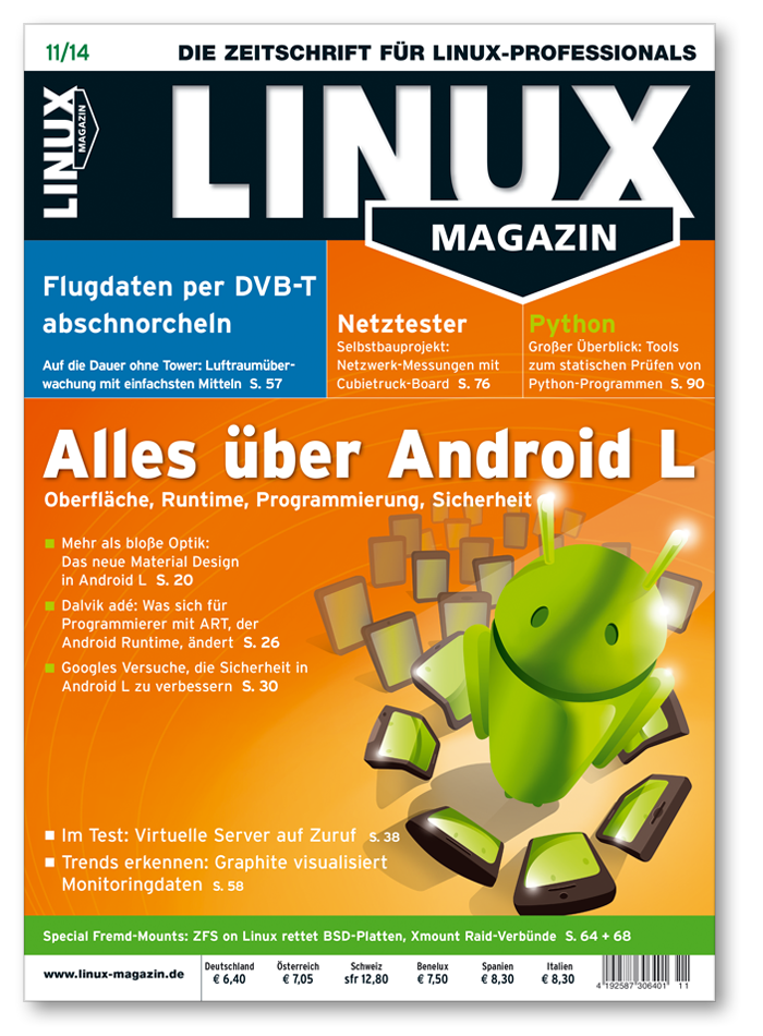 Linux Magazin Ausgabe November 2014 - Cover
