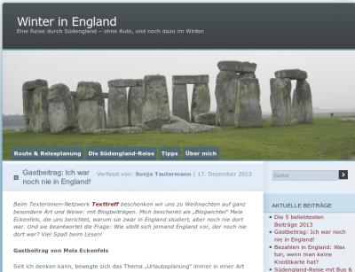 Winter in England – Gastbeitrag: Ich war noch nie in England!