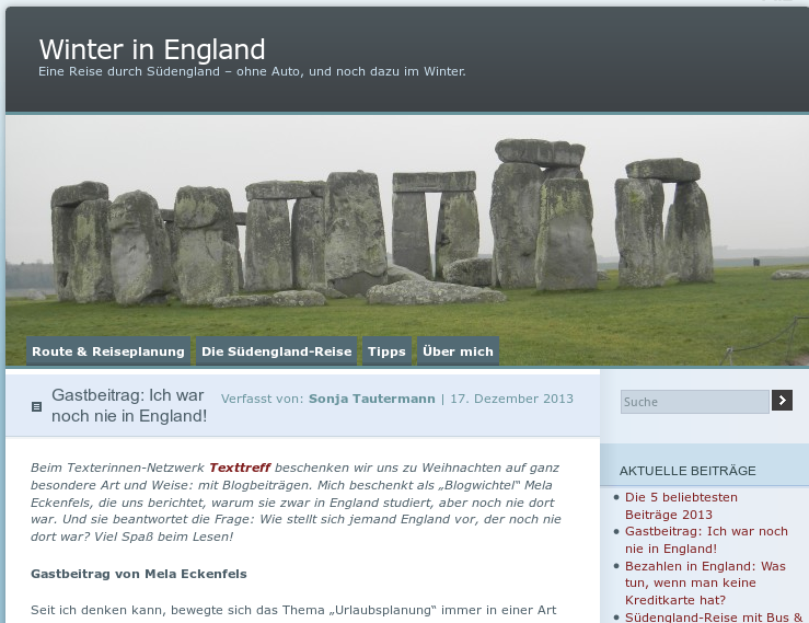 Screenshot - Blog - Winter in England - Gastbeitrag: Ich war noch nie in England!