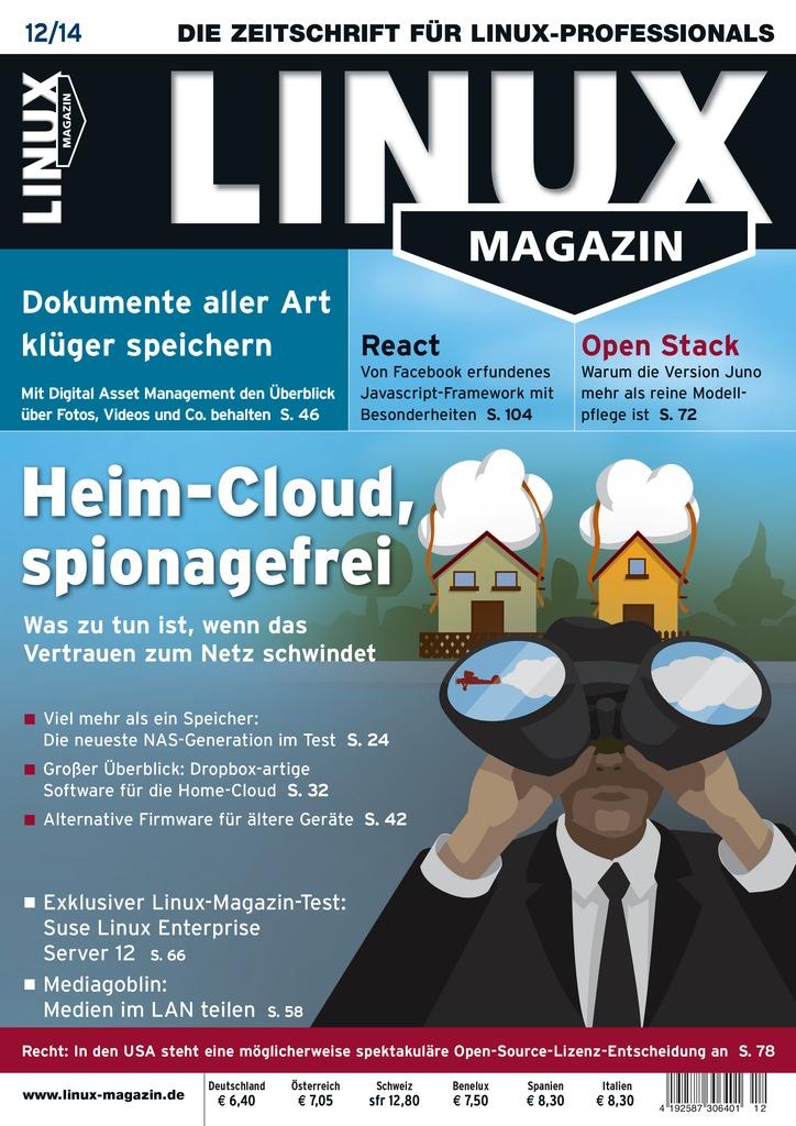 Cover Linux Magazin Dezember 2014