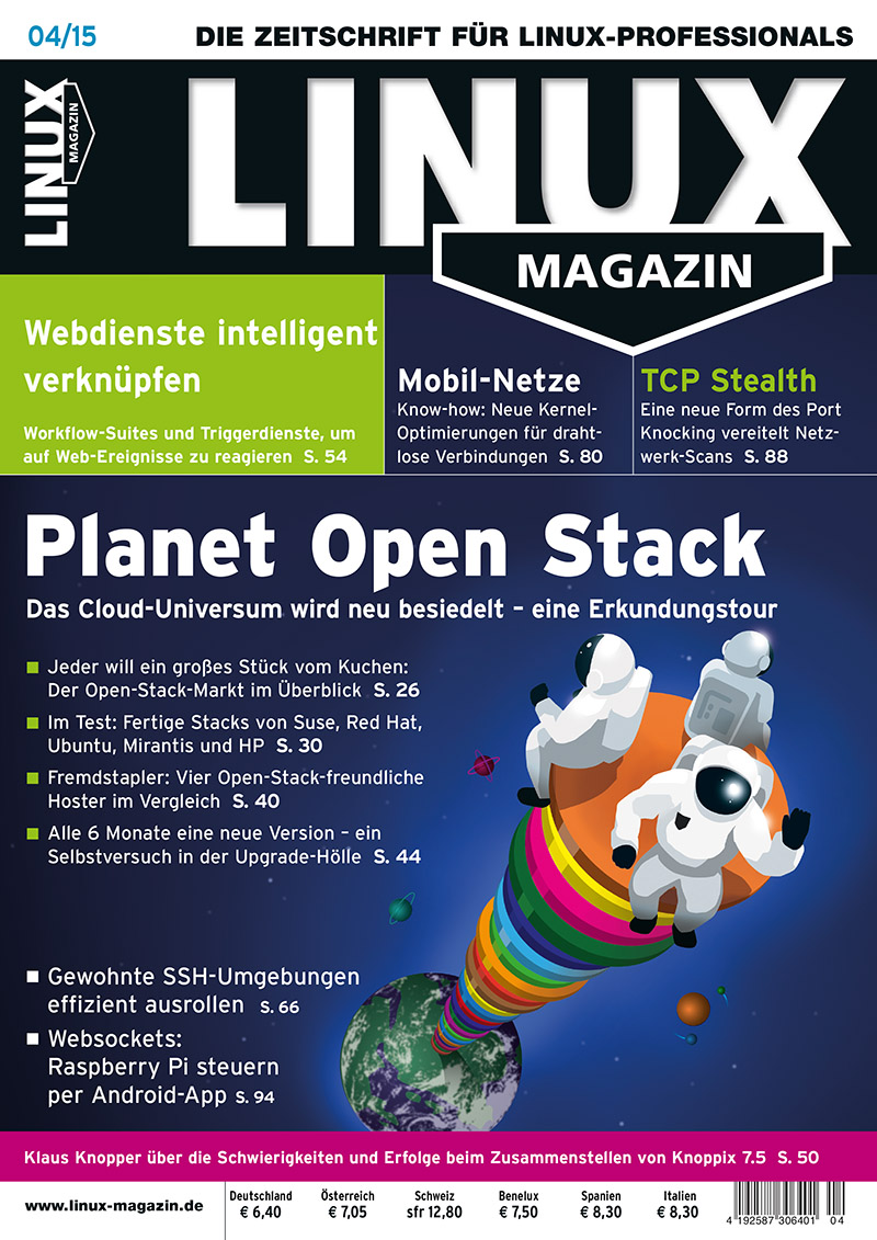 Linux Magazin Cover - Ausgabe April 2015